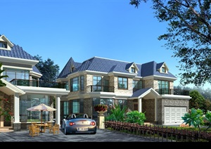 某别墅建筑结构cad施工图带效果图