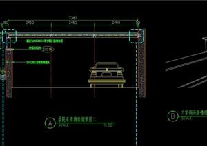 学院车库廊架详细设计cad施工图