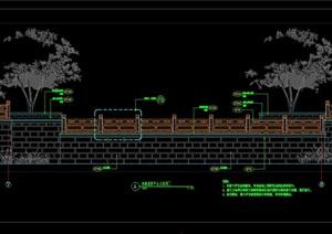 连廊观景平台设计cad立面图