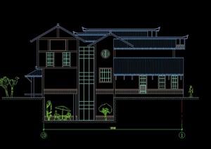 日式别墅建筑设计cad方案图