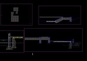 亲水平台挡墙cad方案详图