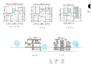 欧式详细独栋的别墅设计cad方案