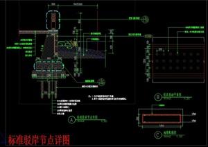 标准驳岸节点CAD施工图详图