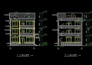 新农村住宅建筑设计cad方案