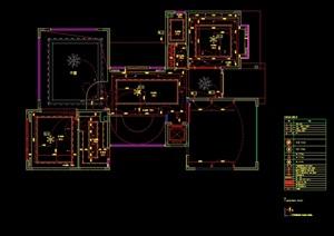 某现代独立別墅室内设计cad施工图及材料样板