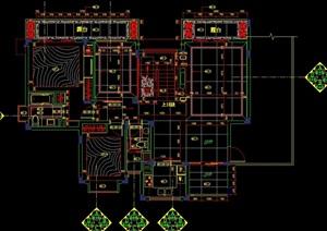 无锡太湖国际社区样板房装修设计cad施工图