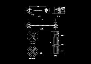铁链栏杆详细设计cad施工图