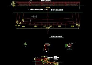 水池驳岸设计cad施工图