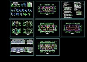 多层别墅建筑设计cad施工图纸