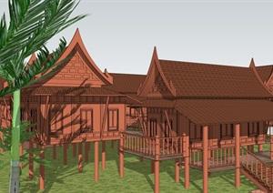 泰国住宅建筑代表样式SU(草图大师)模型