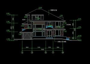 三层日式别墅全套建筑cad施工图