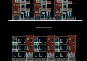 联排别墅cad方案设计