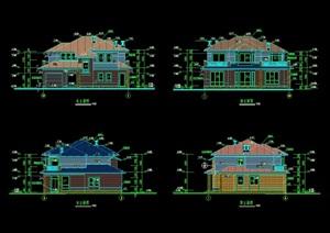 浙西郊区别墅建筑cad方案图
