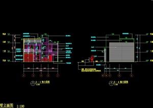 现代独栋别墅设计cad施工图