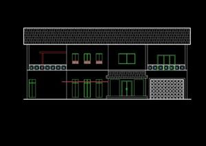 别墅一号楼建筑设计cad方案图