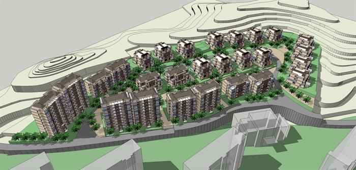 山地别墅及高层住宅小区(2)