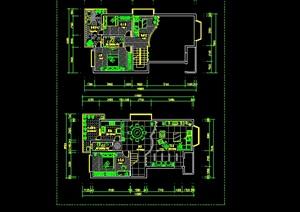 别墅cad平面建筑图