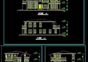 某欧式详细别墅建筑cad方案