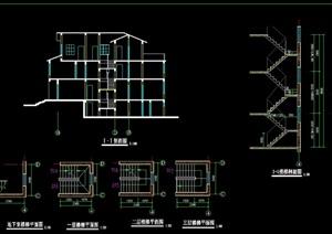 欧式别墅建筑设计cad方案图