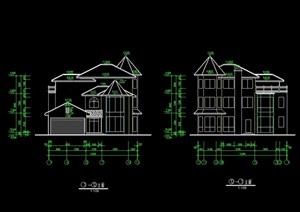 10号别墅建筑设计cad施工图