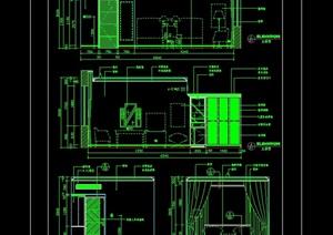 标准客房室内空间设计cad方案