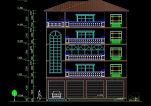 李总家别墅建筑设计cad施工图