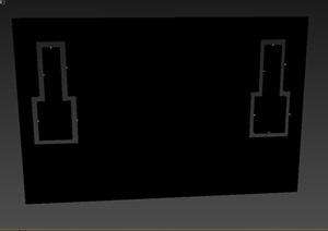 现代详细墙饰素材3d模型