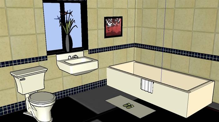 某卫浴室内空间设计su模型(1)