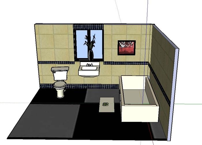 某卫浴室内空间设计su模型(2)