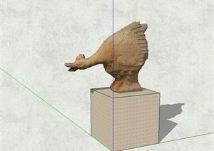 动物雕塑小品设计SU(草图大师)模型
