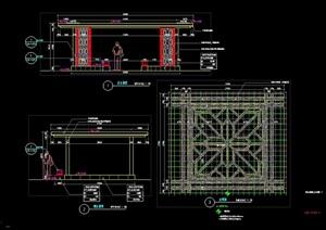 某现代特色廊架设计cad施工详图