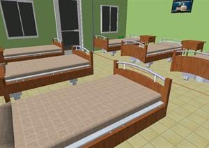 病房室内设计SU(草图大师)模型