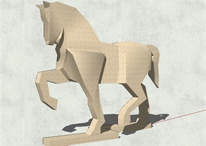 马雕塑详细设计SU(草图大师)模型
