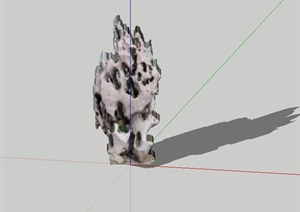 2d太湖景石设计SU(草图大师)模型