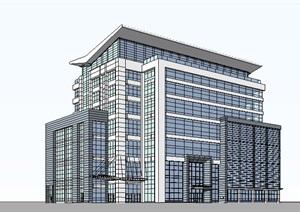 现代办公建筑SketchUp模型
