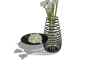 室内详细装饰素材设计SU(草图大师)模型