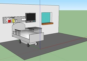 室内设计病房局部设计SU(草图大师)模型