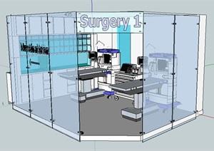 医务室室内空间设计SU(草图大师)模型
