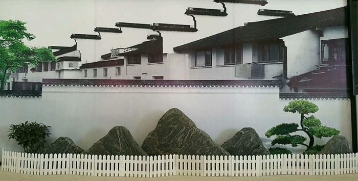 景石,景石石头,围墙