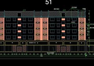中式小区住宅建筑设计cad图