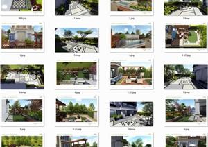 庭院花园景观设计jpg手绘方案及效果图