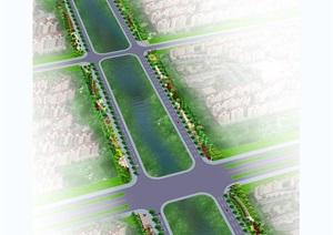 164套城市道路绿化设计cad方案图