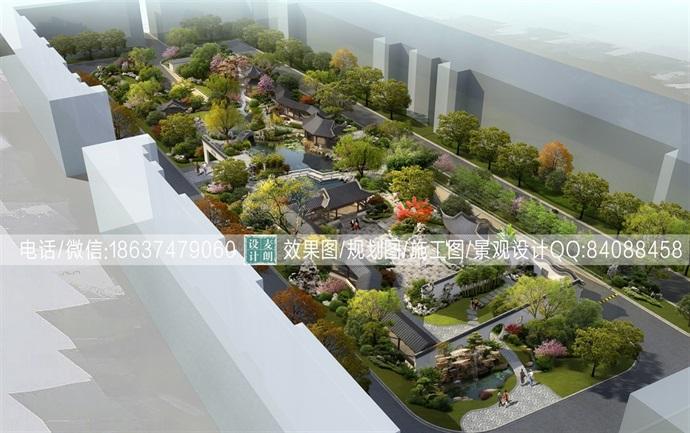 高档小区中式景观规划设计