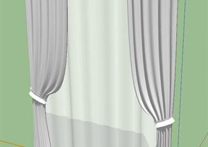 窗帘纱帘SU(草图大师)模型