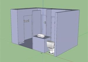 卫生间空间SU(草图大师)模型