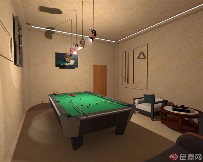 辦公室,臺球桌
