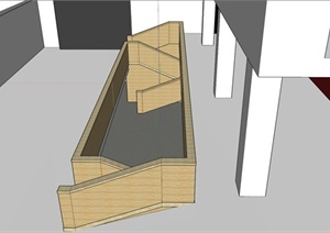 复式建筑楼梯及栏杆SU(草图大师)模型