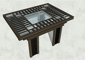 新中式玻璃凉亭设计SU(草图大师)模型