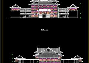 古建筑寺庙cad方案图