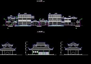 某古典中式风格居住建筑cad方案